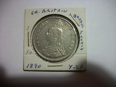 Great Britain 1890 Double Florin foreign Coin