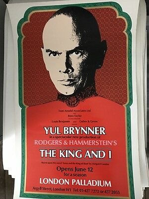 Old Theatre Poster The King and I 1979