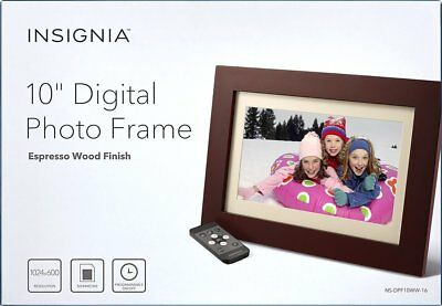 insignia 10 digital photo frame espresso wood finish ns dpf10ww 16