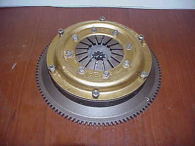 "AP 7-1/4"" Double Disc 10 Spline Clutch & Chevy Backing Plate / Flywheel JR1"