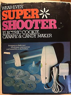 Wear-Ever Super Shooter 1-No. 70001 Electric Cookie Gun Canape Candy Maker Works