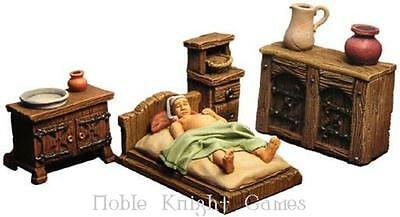 Fenryll Fantasy Mini Resin 28mm Medieval Bedroom Accessories Pack MINT