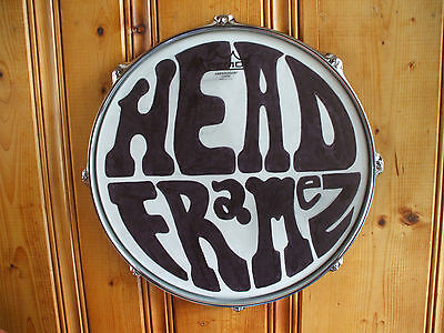 """Chrome 14"""" Drum Head Display Frame For Your Autographed Drum Head  Custom Made"""
