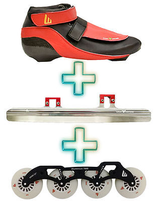 Short Track Set Speed Skates boots +  ST Blades + Roller SET