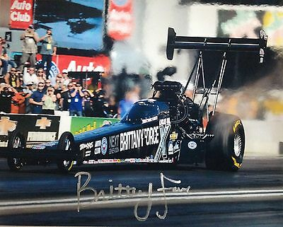 Brittany Force NHRA ACTION autographed signed 8x10 Photo +COA