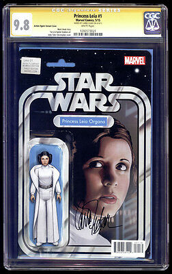 Princess Leia #1 Action Figure Variant SS CGC 9.8 Carrie Fisher Star Wars