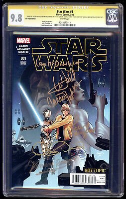 Star Wars #1 Hot Topic SS CGC 9.8 Fisher Hamill McDiarmid Daniels Baker & Mayhew