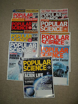 Job Lot of used Popular Science magazines (USA)