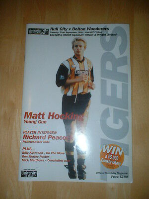 1998/99 Hull City V Bolton Wanderers League Cup - Tigers Great Escape Season