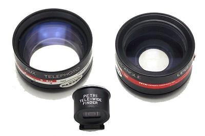 Petri Aux Lens for 45mm 1:1.8 Telephoto & Wide-Angle With Tele-Wide Finder Used