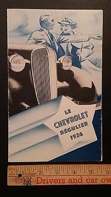 "1936 CHEVROLET  ""Standard 6"" - Duo-Tone Part Color Folder Brochure - E (FRENCH)"