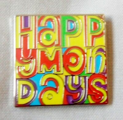 *NEW* Happy Mondays enamel badge. Stone Roses,Shaun Ryder,Bez,Indie,Mod.