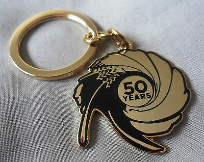 *Limited Edition* James Bond 007 50th Anniversary enamel keyring.Spectre,badge.