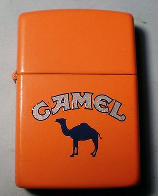 "Zippo Camel Orange Collectable ""outdoor"" Lighter Nov 1991"