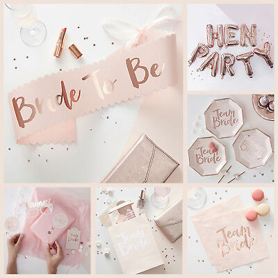 TEAM BRIDE VINTAGE HEN PARTY ACCESSORIES - Rose Gold Bride to Be Accessories