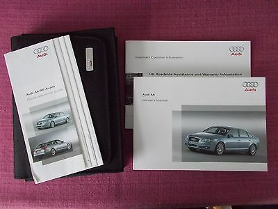 Audi A6 Saloon (2005 - 2009) Owners Manual - User Guide - Handbook. (Acq 5145)