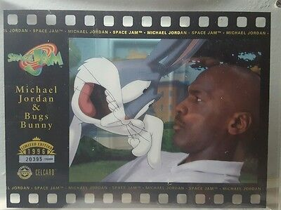 1996 Upper Deck SPACE JAM BUGS Bunny & MICHAEL JORDAN LIMITED Edition CELCARD