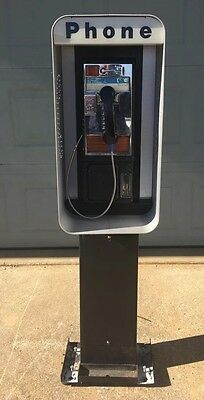 Vintage Pay Telephone Booth & Stand Great Condition