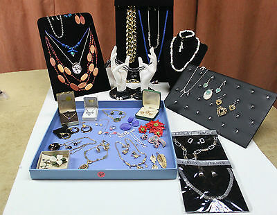 Jewelry Sets Lot Necklace earrings brooches Rhinestone Cameo Cloisonne & More