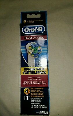 Braun Oral-B Floss Action Replacement Electric Toothbrush Heads - 4 Pack