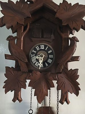 Black Forest Red Eye Musical One Day Cuckoo Clock Made In Germany