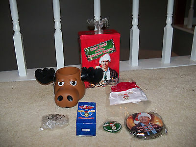 LOT of National Lampoons Christmas Vacation Griswold Marty Moose Mug Koozie Tin