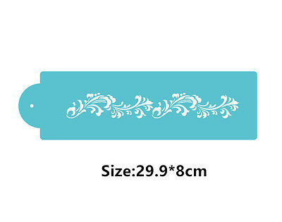 Roll Flowers Cookie Cake Stencil Decorating Mould Fondant Pastry Biscuits Tool