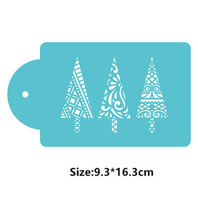 Christmas Tree Cookie Cake Stencil Decorating Mould Fondant Pastry Biscuits Tool