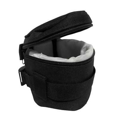 Nylon DSLR Camera Lens Soft Padded Compact Protector Carrying Pouch Bag Case
