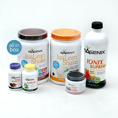 Isagenix Healthy Maintenance Program Pak: Shake Cleanse Accelerate Flush Ionix!