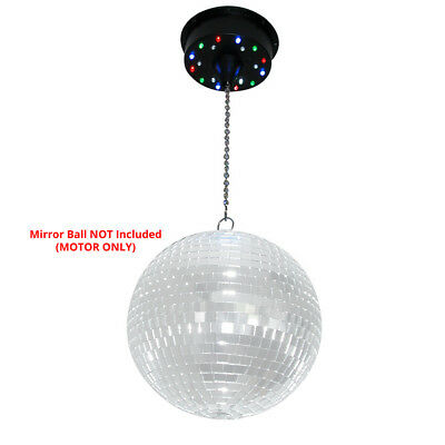 Mirror Glass Disco Dance Party DJ Prom Glitter Ball Battery Motor 18 LED Lights