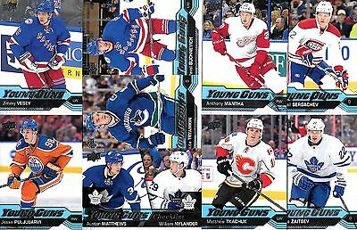 ( Lot 8)  2016-17- Upper Deck  Series 1 Young Guns Rookies ,you Pick 8  #202-250
