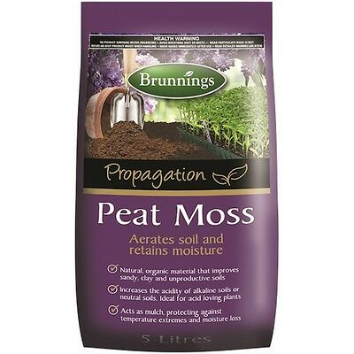 Brunnings Peat Moss 5L -  Aerate Soil and Retain Moisture / Organic & Natural