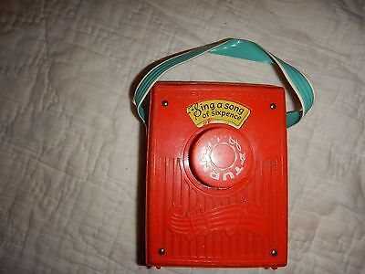 Vintage Wind-Up Music Box Pocket Radio #775 Fisher-Price Sing a Song of Sixpence