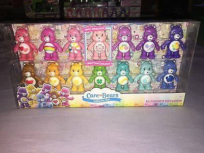 CARE BEARS COLLECTOR SET 14 FIGURES with EXCLUSIVE SWEET SAKURA BEAR **NEW**