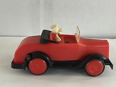 Vintage Rare Red Plastic Disney Donald Duck Car Battery Operated Friction