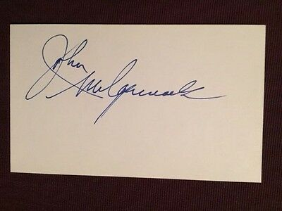 John McCormack Leafs Canadiens Autographed Signed Index Card
