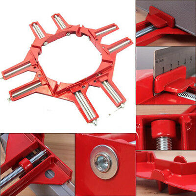 """4pcs 90 Degree Right Angle Miter Corner Clamp 3"""" Capacity Picture Frame Jig Tool"""