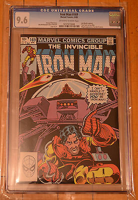 CGC 9.6 Iron Man #169 *White Pages*Jim Rhodes replaces Tony Stark*