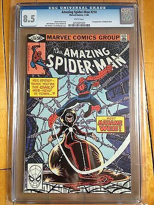 CGC 8.5 Amazing Spider-Man #210 *White Pages*1st App. Madame Web*