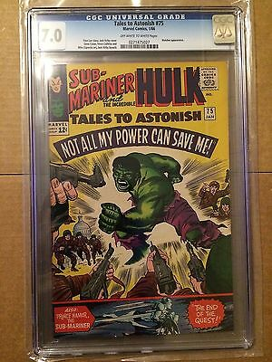 CGC 7.0 Tales to Astonish #75 *OW-White*Watcher App.*1966