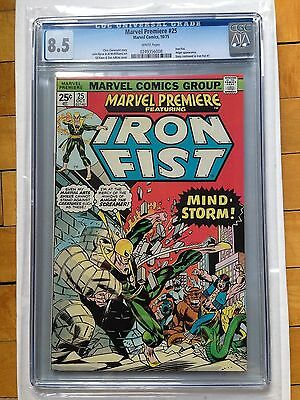 CGC 8.5 Marvel Premiere #25 *White Pages*John Bryne Art*Early Iron Fist*