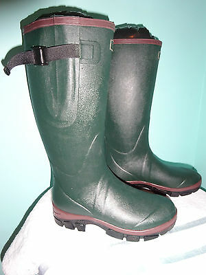 New Green Quality Wellington Boots Neoprene Lined Unisex Adult Size 12 Wellies