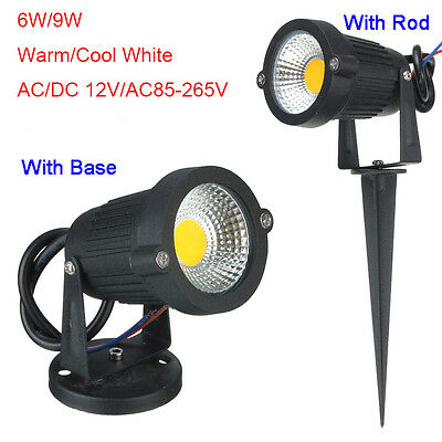 6W 9W COB LED Landscape Garden Path Flood Spot Light Lamp Outdoor Lighting IP65