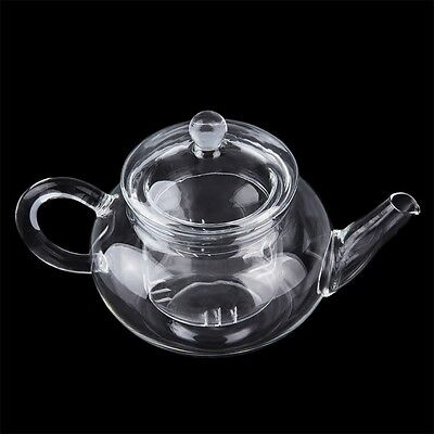 NEW Heat Resistan Glass Teapot With Infuser Coffee Tea Leaf Herbal Pot 250ml ZO