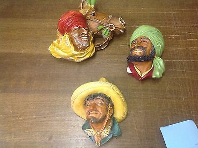 Pancho Mexican Bossons Head 1960 Plaster Collectable + Arabian Horse Arab
