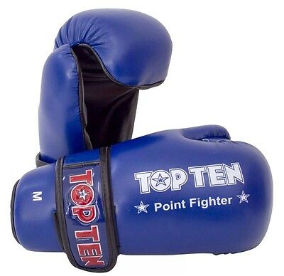 Top Ten Point Fighter Gloves Sparring Taekwondo Kickboxing Martial Arts Size S