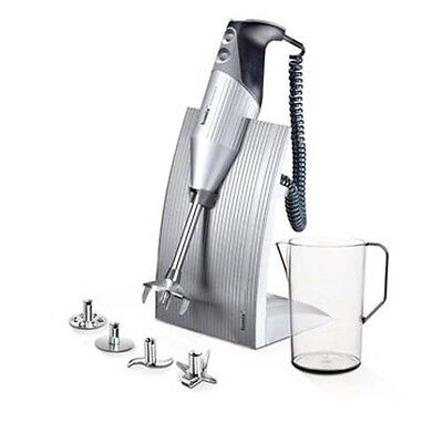 BAMIX MIXER IMMERSIONE C/SUPPORTO Swiss Line Silver 200W BX SL SV