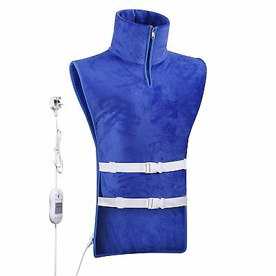 Full Upper Body Electric Heating Vest Pad Natural Thermo Therapy Body Warmer