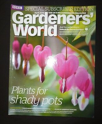 Gardeners World Apr 2016  BBC, Subscriber's Edition, Plants for shady pots,